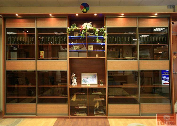Домашние библиотеки на заказ книжные шкафы по индивидуальным.